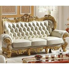 3 seater wooden antique style sofa set