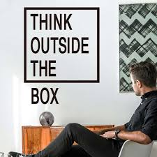outside the box office. Think Outside The Box Wall Quotes Decals Office Art Creative Sticker R
