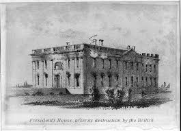 「reconstruction of the executive mansion in 1817」の画像検索結果
