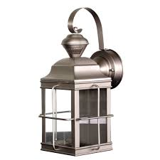 new england reg motion sensor carriage lantern in brushed nickel hz 4144 nb