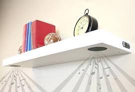 Corner Speaker Shelves Impressive Floating Shelves For Speakers W Slim Floating Black Shelf Floating