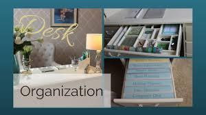 Desk Organization Desk Organization Youtube