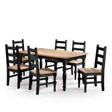 this review is from jay 7 piece black wash solid wood dining set with 6 chairs and 1 table