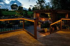 lighting ideas deck railing and collection including lights picture led front of pergola