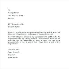 Church Resignation Letter Template. Sample Resignation Letter Format ...