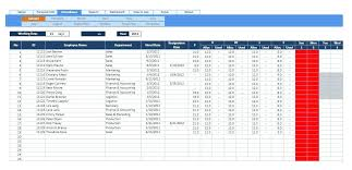 Free Excel Employee Attendance Tracker Template Source