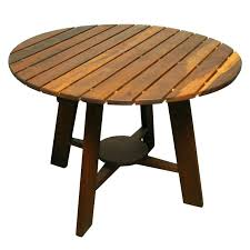 round wood patio table exotic wood round outdoor dining table by for wood patio set