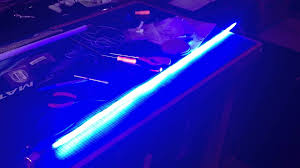 5mm blue leds segmented lightsaber string blade with white flash on clash effects strip for motown