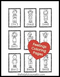 Small Picture Feelings Coloring Pages Newsletter Freebie The Helpful Counselor