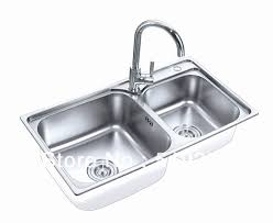 kitchen sink countertop one piece unique 304 stainless steel high quality double bowls topmount one piece