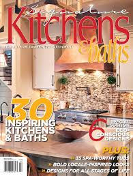 Kitchen Magazine Splash Selected For The Cover Of Signature Kitchens Baths
