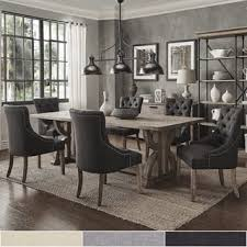 Paloma Salvaged Reclaimed Pine Wood 7 Piece Rectangle Dining Set by