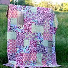 Big Block Quilt Patterns For Beginners Extraordinary Big Block Quilt For Me Gingercake