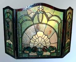 fireplace screens glass fireplace screens stained glass fireplace screens stained glass pattern fireplace screens stained glass