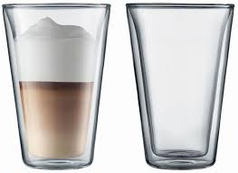bodum canteen 400ml double wall glasses twin pack