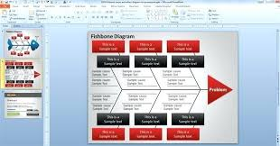 Fishbone Analysis Template Ppt Weekly Free Download Design Diagram