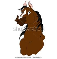 horse head clip art color. Brilliant Color Horse Cartoon Character Bay Color Head Isolated On A White  Background Vector With Head Clip Art Color E