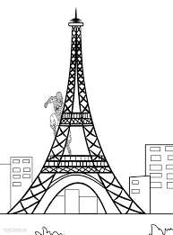 Small Picture Printable Eiffel Tower Coloring Pages Coloring Me