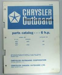1966 chrysler outboard parts catalog 6 hp model usa 6601 6603 1966 chrysler outboard parts catalog 6 hp model usa 6601 6603 6701 6602 6702 used