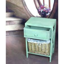 vintiquewise distressed green wash end tableqi  the home depot