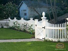 vinyl picket fence front yard. Open-spaced Vinyl Picket Fence Front Yard