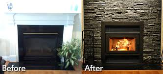 tiling over brick fireplace before and after tiling over painted brick fireplace