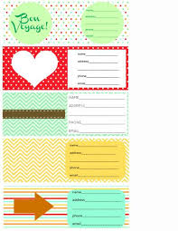 Printable Luggage Tags Printable Luggage Tags And Packing Checklist The Pretty Bee