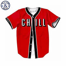 Us 16 T 55 2018 Button Printed Hip Casual Funny Hop Fack Tee Up Chill Shirts-in Shirt T-shirts Shirts Red Cardigan Summer Style Baseball