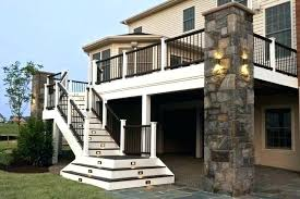 exterior stairs nice outer staircase design ideas about deck lighting pictures deck stair design