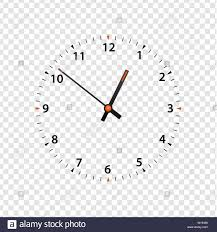 Watch Dial Design Template Vector Clock Face Isolated On Transparent Background Clock