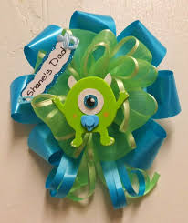Monster Inc Baby Shower Decorations Baby Shower Corsage Pin Monsters Inc By Babyguardians On Etsy