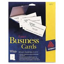 Avery 5371 Business Cards Avery Business Card 5371