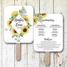 Wedding Program Fans Cheap Amazon Com Sunflower Wedding Fans Wedding Programs Wedding