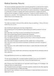 Secretary Resume Samples Cover Letter Resume Skill Church Secretary