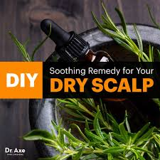 diy dry scalp remedy with rosemary oil