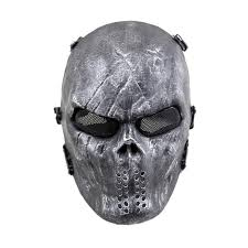 average cosplay black full face skull mask airsoft paintball tactical costume scary mask for party