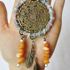 Vegan Dream Catcher Vegan Dream Catcher Necklace Fabric from Six Dandy Lions My 2