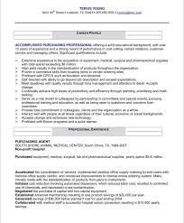 Resume Format For Purchase Manager - The Best Letter Sample