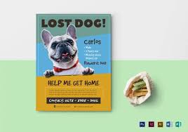 Dog Flyer Template Free 11 Psd Lost Dog Flyer Templates Free Premium Templates