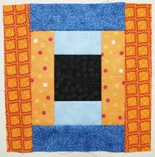 How To Make Courthouse Steps Log Cabin Quilt Block | Quilts By Jen & Sew medium orange pieces to unit from step 3 Adamdwight.com