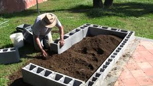 vermibag ep 23 making a raised bed garden with concrete blocks