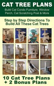 cat tree plans build cat condo furniture window perch cat scratching post