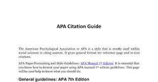 Apa Citation Guidepdf Docdroid