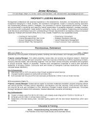Leasing Manager Resume 2 Resumes Leasing Manager Resume