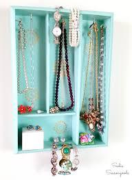 Diy Jewelry Holder Diy Jewelry Organizer Holder With A Repurposed Silverware Tray