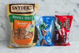 ings for pretzel m m hugs shown here