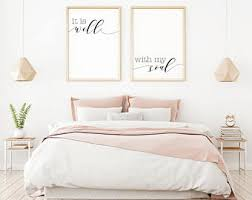 it is well with my soul printable sign set digital prints quote bedroom wall decor ideas home decor rustic home wall art bedroom sign on bedroom wall decor ideas pictures with bedroom wall decor etsy