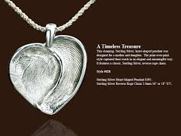 custom heart shaped fingerprint jewelry made by forever touch studio in cranston rhode island