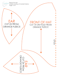 Hat Pattern Stunning How To's Day DIY Halloween Costume Fleece Fox Hat Tail