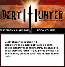 enigma arcane definition of a death blade  enigma arcane definition of a death blade